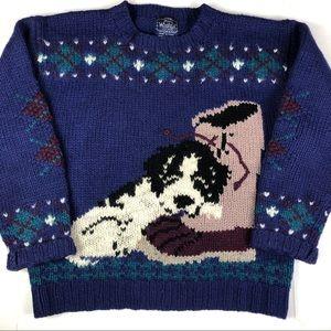 Vintage Woolrich Dog Sweater
